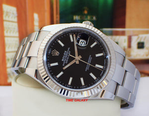Rolex 126334-0017 made of white gold, stainless steel, black dial