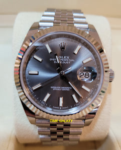 Buy Sell Rolex Datejust 41 White Rolesor Oystersteel Dark Rhodium 126334 at Time Galaxy