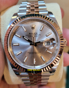 Rolex Datejust 41 Rolesor Everose Fluted Jubilee Sundust 126331-0010