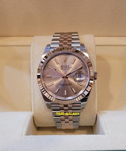 Buy Sell Rolex Datejust 41 Rolesor Everose Sundust Jubilee 126331 at Time Galaxy