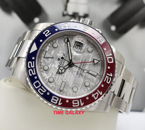 Rolex 126710BLRO features Meteorite dial, Blue and red Cerachrom bezel