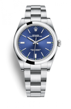 Load image into Gallery viewer, Authentic Rolex Oyster Perpetual 39 Blue 114300-0003 Watch