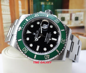 Rolex 126610LV features black dial with green cerachrom bezel