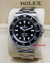 Load image into Gallery viewer, Rolex Submariner 41 No Date Oystersteel Cerachrom Black 124060-0001