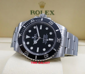Rolex 124060-0001 black dial with Chromalight display with long-lasting blue luminescence