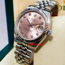 Load image into Gallery viewer, Buy Sell Rolex Datejust 31 Pink Diamonds 178274 at Time Galaxy