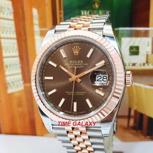 Rolex Datejust 41 Rolesor Everose Fluted Jubilee Chocolate 126331-0002