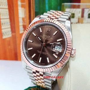 Buy Sell Rolex Datejust 41 Rolesor Everose 126331 at Time Galaxy Watch