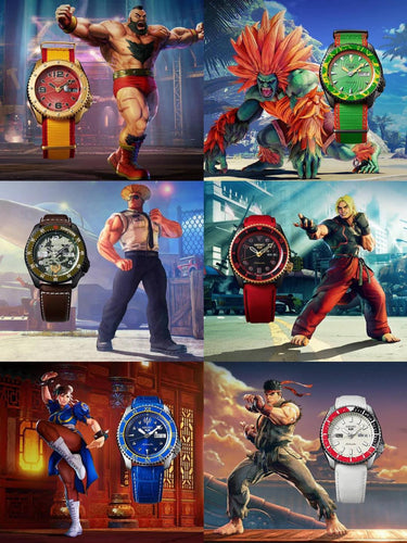 Seiko 5 Sport Street Fighter V limited edition watches