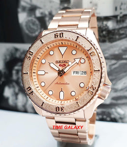 Seiko 5 Sports Rose Gold Tone SRPE72K1 Bracelet