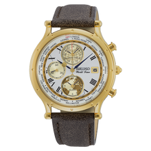 Load image into Gallery viewer, Authentic SEIKO Age of Discovery 30th Anniversary World Time Alarm Gold SPL060P1 Watch Limited Edition