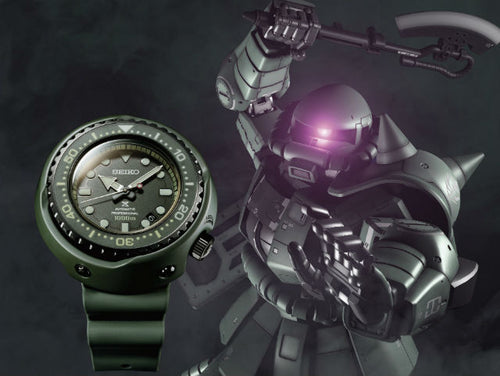Seiko Prospex Marinemaster Professional Zaku II Gundam Limited Edition Watch