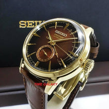 Load image into Gallery viewer, Seiko Presage SSA392J1 Stainless steel with golden coating, hardlex crystal, materials