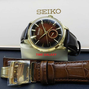 Seiko Presage SSA392J1 with Calfskin leather black colour and additional brown leather strap