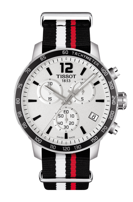 Brand New 100% Genuine TISSOT QUICKSTER 42mm Nato Chronograph Quartz Watch