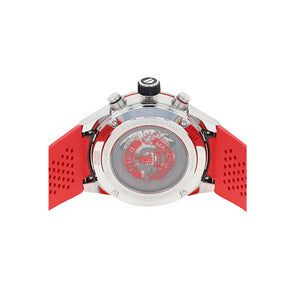 Tag Heuer Manchester United CAR210M.FT6156 with red rubber strap