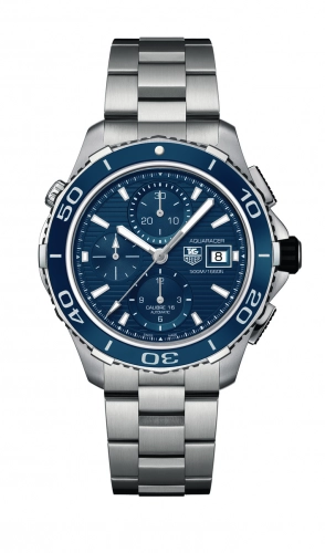 Authentic Tag Heuer Aquaracer 500M Calibre 16 43 Stainless Steel Blue Bracelet CAK2112.BA0833 watch