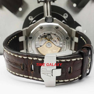 Pre-Owned 100% Genuine AUDEMARS PIGUET Royal Oak Offshore Stainless Steel Safari Alligator Watch