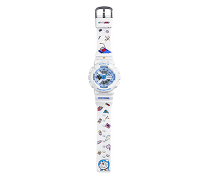 Doraemon watch embossed with cartoon style and logo on strap