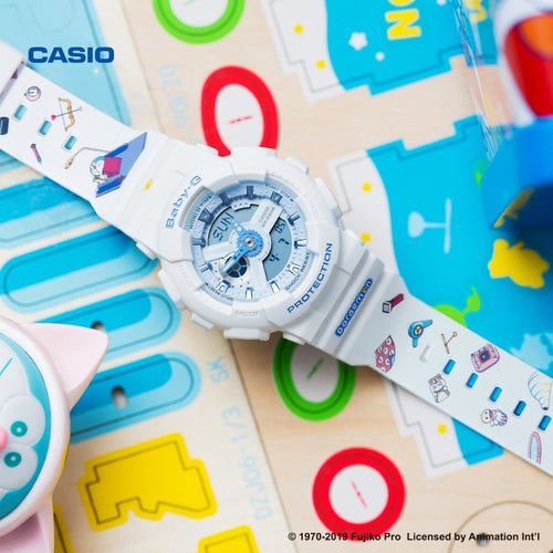 Genuine Casio Baby-G special collaboration Doraemon limited edition white colour wrist watch