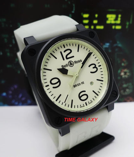 Pre-Owned BELL & ROSS Black Ceramic BR 03-92 Full Lume (Limited Edition)
