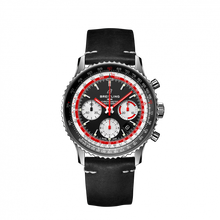 Load image into Gallery viewer, Breitling Navitimer B01 Chronograph 43 Stainless Steel Black Airline Editions SwissAir Calf Pin AB01211B1B1X1 Watch