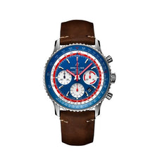 Load image into Gallery viewer, Breitling Navitimer B01 Chronograph 43 Pan Am Steel Blue Calf Folding AB01212B1C1X2 Watch