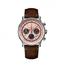 Load image into Gallery viewer, Breitling Navitimer B01 Chronograph 43 TWA Steel White Calf Pin AB01219A1G1X1 Watch
