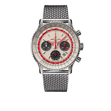 Load image into Gallery viewer, Breitling Navitimer B01 Chronograph 43 TWA Steel White Calf Mesh Bracelet AB01219A1G1A1 Watch