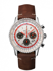Breitling Navitimer B01 Chronograph 43 TWA Steel White Calf Folding AB01219A1G1X2 Watch