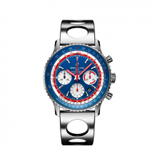 Load image into Gallery viewer, Breitling Navitimer B01 Chronograph 43 Pan AM Steel Blue Air Racer AB01212B1C1A2 Watch