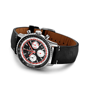 Buy Sell Breitling Navitimer 1 B01 Chronograph 43 Stainless Steel Black Airline Edition SwissAir Calf Folding AB01211B1B1X2 at Time Galaxy Watch
