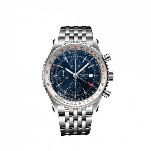Breitling Navitimer Chronograph GMT Stainless Steel Blue Bracelet A24322121C2A1 Watch