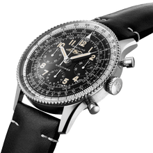Load image into Gallery viewer, Breitling AB0910371B1X1 black dial, Arabic numerals indexes, syringe hands, sliderule bezel, chronograph, column wheel, chronometer