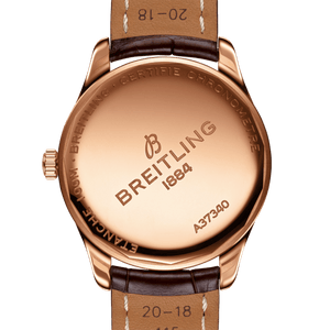 Breitling R37340351G1P1 powered by B37 caliber, ETA 2895-2 base, made of 18k Red Gold and sapphire glass