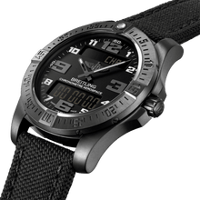 Load image into Gallery viewer, Breitling V79363101B1W1 black dial, power reserve indicator, chronometer, analog and digital display