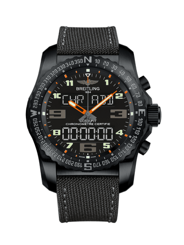 Breitling Professional Cockpit 50 Black Titanium Volcano Black Military Pin VB5010A5.BD41.100W.M20BASA.1 Watch
