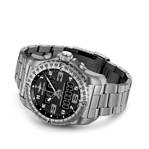 Breitling EB5010221B1E1 date, day, month, perpetual calendar, year indicator, analog and digital display