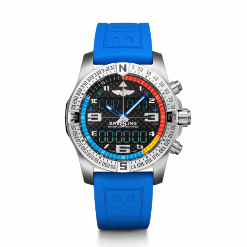 Breitling Professional Exospace B55 Yachting Titanium Carbon TwinPro Blue Folding EB5512221B1S1 Watch