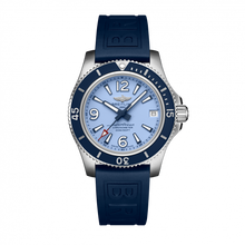 Load image into Gallery viewer, Breitling Superocean 36 Stainless Steel Blue Rubber Pin A17316D81C1S1 Watch