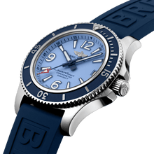 Load image into Gallery viewer, Breitling A17316D81C1S1 blue dial, mixed indexes, stick hands, date display