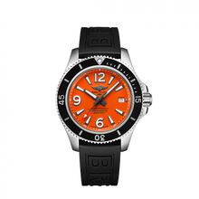 Load image into Gallery viewer, Breitling Superocean Automatic 42 Steel Orange Rubber Pin A17366D71O1S1 Watch