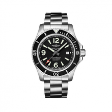 Load image into Gallery viewer, Breitling Superocean Automatic 44 Steel Black Bracelet A17367D71B1A1 Watch