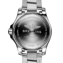 Load image into Gallery viewer, Breitling A17367D71B1A1 powered by B17 caliber, ETA 2824-2 base, made of stainless steel and sapphire glass, water resistant up to 1000 m