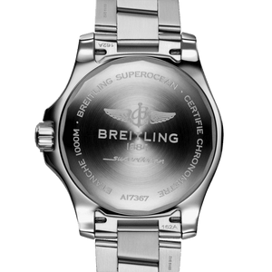 Breitling A17367D71B1A1 powered by B17 caliber, ETA 2824-2 base, made of stainless steel and sapphire glass, water resistant up to 1000 m