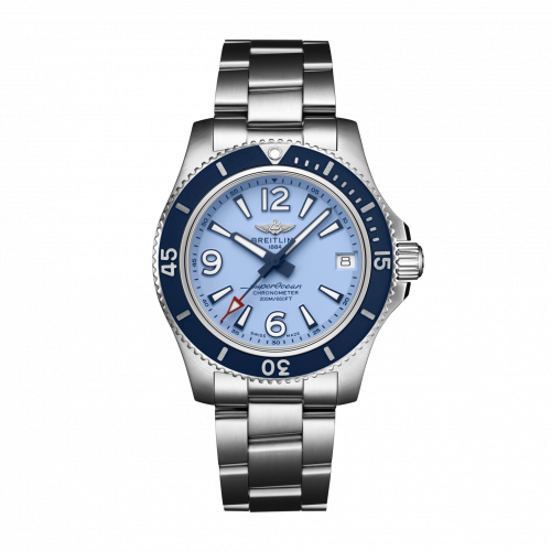 Breitling Superocean Automatic 36 Stainless Steel Blue Bracelet A17316D81C1A1 Watch