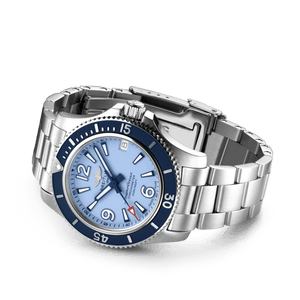 Buy Sell Breitling Superocean Automatic 36 Steel Blue Bracelet A17316D81C1A1 diver watch at Time Galaxy Malaysia