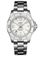Load image into Gallery viewer, Breitling Superocean Automatic 36 Stainless Steel White Bracelet A17316D21A1A1 Watch