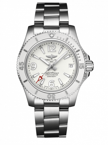 Breitling Superocean Automatic 36 Stainless Steel White Bracelet A17316D21A1A1 Watch