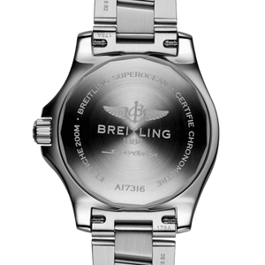 Breitling A17316D21A1A1 powered by B17 caliber, ETA 2824-2 base, made of stainless steel and sapphire glass